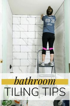 Tips and tricks for making your next bathroom tiling job easier. #bathroom #renovation #tiling #diy