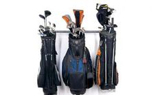 small golf bag rack by monkeybarstorage.com