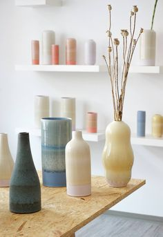 Handmade danish ceramics from the studio of Tortus Copenhagen. it would be cool to make models like this. & experiement w/ glazes. check out classes @ arts underground Pottery Vase, Ceramic Pottery, Ceramic Art, Thrown Pottery, Tortus Copenhagen, Vase Design, Paper Vase, Vase Crafts, Pots