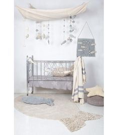 Sea Sky design by Lorena Canals Ocean Nursery, Nursery Room, Boy Room, Kids Room, Fish Themed Nursery, Ikea Baby Room, White Nursery, Nursery Themes, Nursery Decor