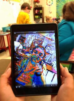iPads in the art room. App review friday: Photo Trophadellic app! SO COOL!