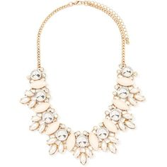 Forever 21 Faux Pearl Statement Necklace (47 BRL) ❤ liked on Polyvore featuring jewelry, necklaces, accessories, colares, collares, statement bib necklace, faux pearl cluster necklace, faux pearl statement necklace, cluster necklace and chain necklace