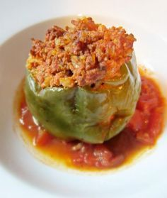 Old Fashion Stuffed Green Peppers Recipe