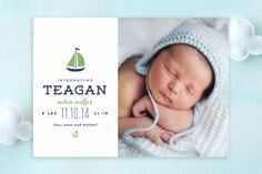Seafarer Birth Announcements by Lauren Chism at minted.com