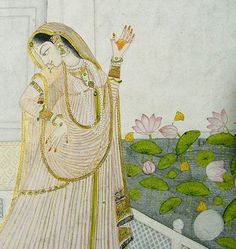 Srimate Radharani. Overflows with the nectar of love for Krsna