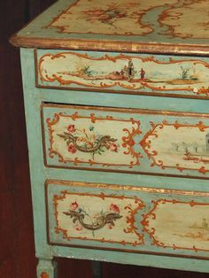 19th Century Painted Italian Commode