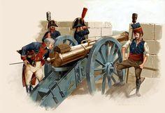 El General Herrasti pasando revista a la artillería, durante el asedio de Ciudad Rodrigo