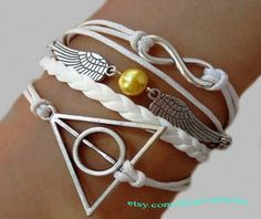 Infinity snitch and harry potter magic bracelet wax by Carlydiy, $4.99