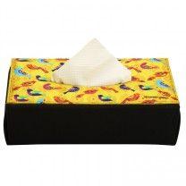 Pop Birds Yellow Soft Tissue Box by The Elephant Company