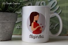 Taza personalizada embarazada