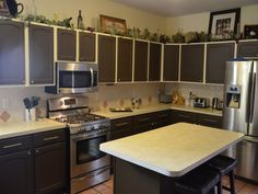 Attractive Painting Old Kitchen Cabinets Color Ideas