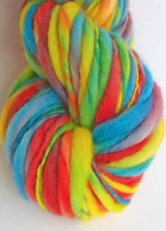 Requested rainbow   Thick and thin slub by misterstiltskin on Etsy, $17.00