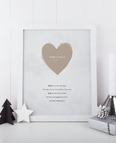 Mettere i ricordi del tuo primo ballo sul display con questo personalizzato la nostra canzone stampabile. Un regalo premuroso per la vostra coppia preferita o un simpatico regalo per la persona amata, scegliere la canzone che definisce il rapporto e il titolo la stampa con il vostro nome e lanniversario o la data di nozze per un dono perfettamente personalizzato.  Siete pregati di notare che questa lista è per il digitale PDF della stampa, che è possibile stampare a casa o in un negozio di…