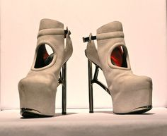 Leather Shoes With Unique Shap