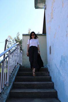 look printemps vintage pantalon pois L'atelier d'al blog mode lifestyle Paris