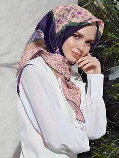 Armine Bursa Floral Silk Hijab - Beautiful Hijab Styles
