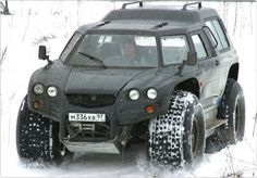 Aton Impulse Viking-2992 amphibious 4×4, an extreme Russian offroader and a real doomsday survival vehicle.