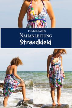 Freebook - Simple summer dress for the beach sewing for adultsSewing a beach dress - Sew a free summer dressSewing pattern / Ebook lillesol women Jersey dress with submarine neckline / . Crochet Summer Dresses, Simple Summer Dresses, Beach Shirts, Summer Shirts, Sewing Clothes, Diy Clothes, Diy Kleidung Upcycling, Robe Diy, T Shirts