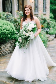 7733978f5414 Cloisters Wedding by Nicki Metcalf Photography and East Made Event Company-  Bridal ballgown sweetheart neckline