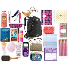 Online shopping for Girls' Back-to-School Essentials from a great selection at Clothing, Shoes & Jewelry Store. School Kit, College School Supplies, Life Hacks For School, Make School, Cute School Supplies, High School, Back To School Supplies List, Middle School, School Stuff