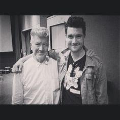 Dan from Bastille and David Lynch. Two of our favorite guys! #amoeba #amoebamusic #bastille #davidlynch