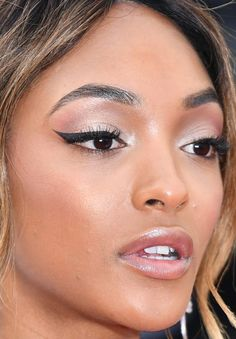 Close-up of Jourdan Dunn at the 2016 Cannes premiere of 'The Unknown Girl'. http://beautyeditor.ca/2016/05/24/cannes-film-festival-2016