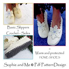 2in1-Pattern PACK for Snowflake Slippers by PdfPatternDesign