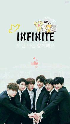 Cute wallpaper 😆❤️ what do u think about it? Motion Wallpapers, Cute Wallpapers, Infinite Band, Seokjin, Namjoon, Taehyung, Jonghyun, Infinite Members, High School Love
