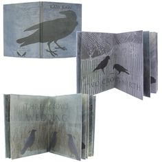 Mary Taylor ... Artist proof 16 pages, drumleaf bound, Paste Paint Pages with collograph and digital prints..kaw Kaw