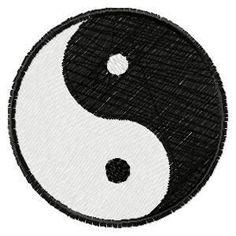 Yin Yang-embroidery design