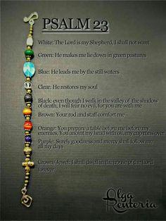 Bracelet of psalm 23
