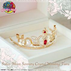 BANDAI Sailor Moon Princess Serenity Swarovski Crystal Wedding Tiara Official