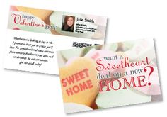 Valentine's Themed direct mail postcard for real estate agents