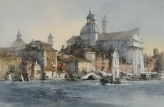 Classical Venice 56 X by Chien Chung Wei Watercolor Sketch, Watercolor Artists, Watercolor Landscape, Landscape Art, Landscape Paintings, Watercolor Paintings, Gouache Painting, Artist Painting, Art Aquarelle