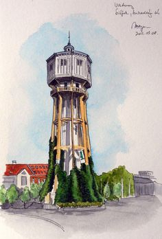 Water Tower, Siófok (Hungary) by picturesofmaya