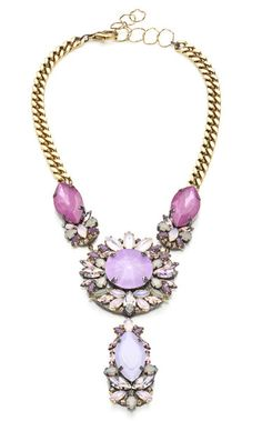 Erickson Beamon Jewelry | Erickson Beamon Pretty in Punk Embellished Bib Necklace in Multicolor ...