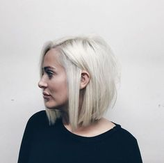Silver blonde bob by Dominick Serna
