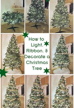 8 Hacks To Make Your Fake Christmas Tree Look Full And Fabulous how to light ribbon and decorate a christmas tree, christmas decorations, how to, seasonal holiday decor Ribbon On Christmas Tree, Cheap Christmas, Christmas Tree Themes, Christmas Tree Toppers, Rustic Christmas, Christmas Home, White Christmas, Christmas Tree Ornaments, Christmas Lights