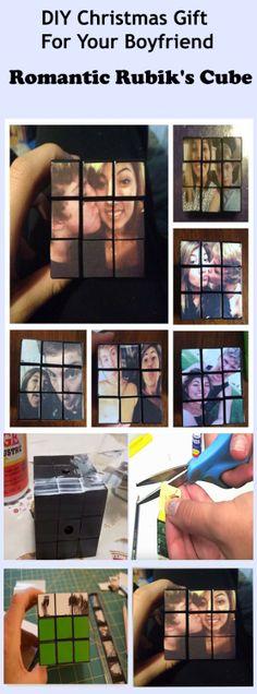 Sizin Boyfriend için DIY Noel hediyesi: Romantik Foto Rubik Küpü http://buyhimthat.com/diy-romantic-photo-rubiks-cube/