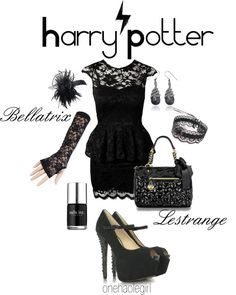 """My HP Fix Week 17 Bellatrix Lestrange"" by onehaolegirl on Polyvore"