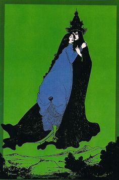 The Ascension of St Rosa of Lima by Aubrey Beardsley, 1896.  [via heavymettle]