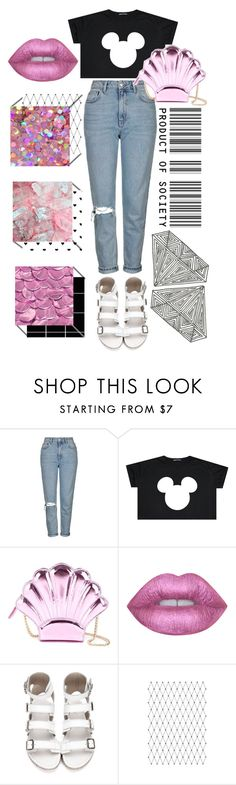 """Don't Try To Put Me In A Box"" by hunteremma ❤ liked on Polyvore featuring Topshop, Yazbukey, Lime Crime, Pink, disney, mickey, mickeymouse and metalic"