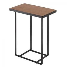 TOWER - MAGAZINE HOLDER WITH TABLE BK