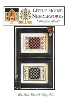 Fruit Game Boards from Little House Needleworks offers a pair of fruit game boards in counted cross stitch patterns. Each charted design offers a