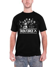 cc8f12cb3ba Suicide Squad T Shirt Task Force X Joker Harley Quinn Mens Black - Paradiso  Clothing Culture
