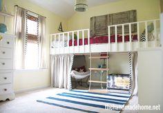 Dual loft bed