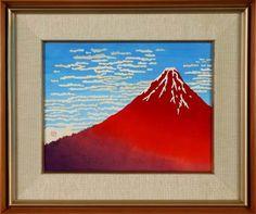 赤富士 松田貞惠が遺した古流押絵の作品