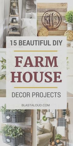 15 Easy DIY Farmhouse Decor Projects You Can Do On A Budget 15 Gorgeous DIY farmhouse decor ideas you can do on a tight budget. Including farmhouse living room, farmhouse bathroom and farmhouse kitchen decor diy projects! Diy Home Decor For Apartments, Diy Home Decor On A Budget, Easy Home Decor, Decorating On A Budget, Cheap Home Decor, Interior Decorating, Modern Farmhouse Decor, Farmhouse Kitchen Decor, Farmhouse Style