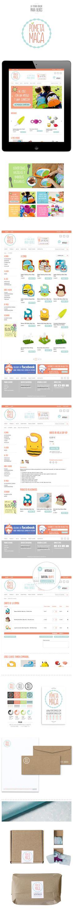 Web design and branding design for Pometa Maca, the online store for babies.  http://mireiajane.com/81813/1335763/works/pometa-maca