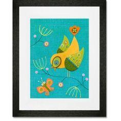 Chirping Conversation Framed Art Print